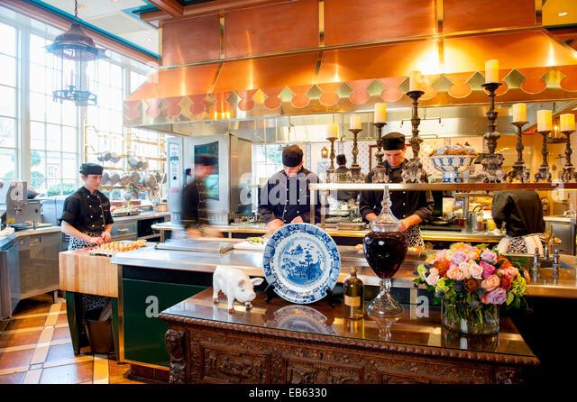 USA-Virginia VA Washington Inn at Little Washington ein Relais und Chateaux Hotel Unterkunft Köche arbeiten Stockbild