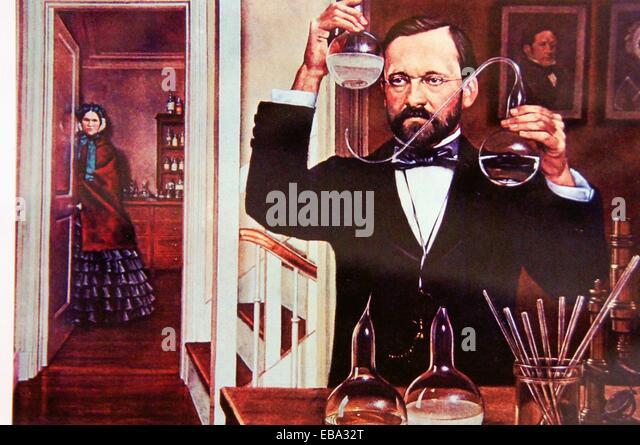 1822-1895 1800er Jahren des 19. Jahrhunderts 1. 27 28 Vollendung Milzbrand Asymmetrie Grundlage unter besten Körper Stockbild