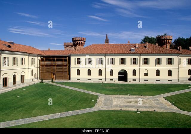 1800er Jahren des 19. Jahrhunderts Agenzia Albergo Alberto Architektur Brassière Carlo Cascina Farbe Bild Land Stockbild