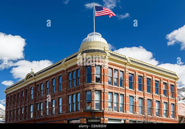 Elche Altbau, Aspen, Colorado USA Stockbild