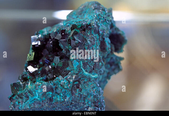 Dioptase, Republik Kongo Stockbild