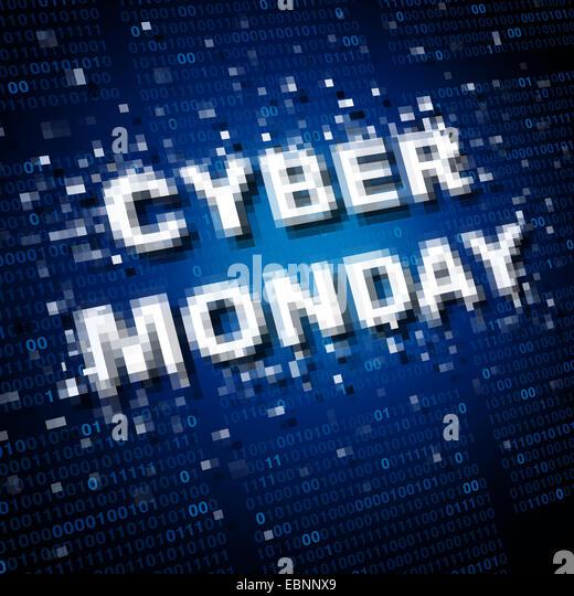 Cyber Montag Verkauf Symbol und Marketing Symbol als ein Online-Werbung-Vertriebskonzept für Internet Urlaub Stockbild