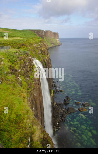 Kilt Rock, Trotternish, Großbritannien, Schottland, Isle Of Skye Stockbild
