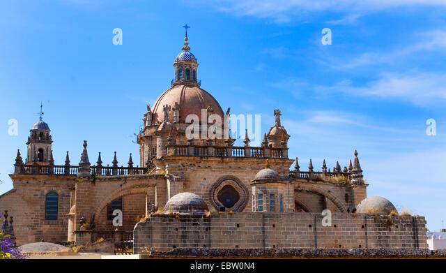 Kathedrale von Jerez De La Frontera, Spanien, Andalusien, Jerez De La Frontera Stockbild