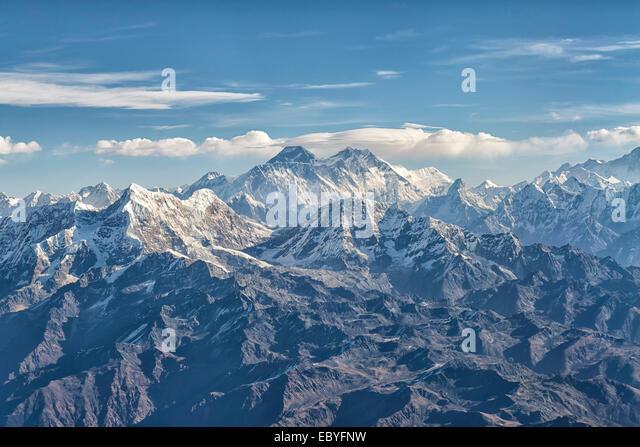Mount Everest im Mahalangur, Nepal Stockbild