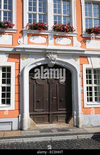 Ein altes Haus, Görlitz, Sachsen, Deutschland, Europa-Portal (Eingang) Stockbild