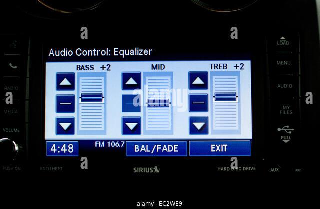 Equalizer audio Stockbild
