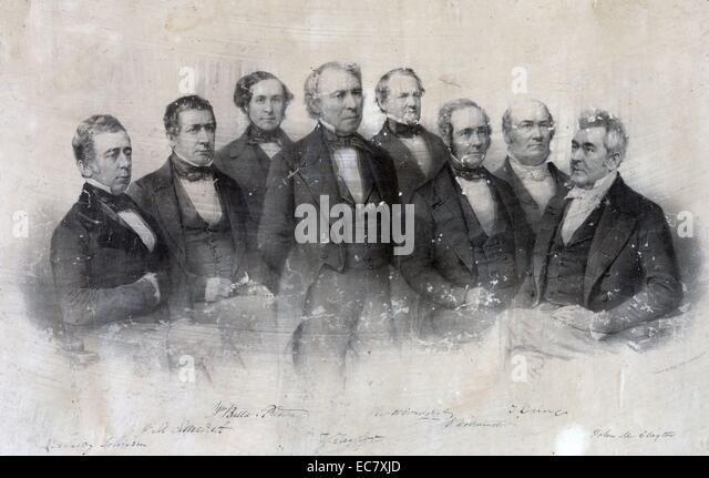 Präsident Taylor mit seinem Kabinett Offiziere - Stock-Bilder