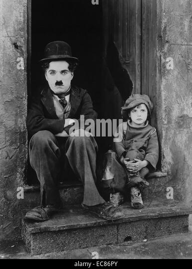Noch aus dem Film 'The Kid' Stockbild