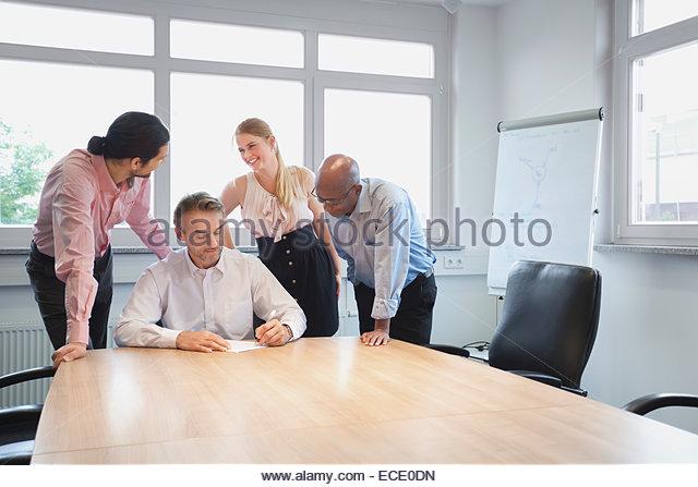 Meeting Raum Raum Konferenzteam Planungsbüro Stockbild