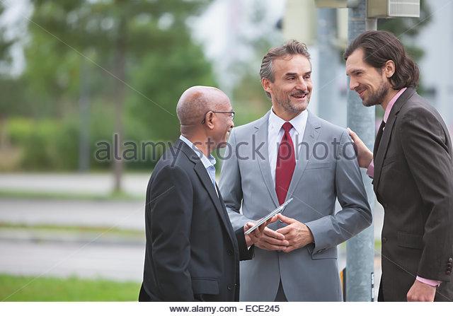 Geschäftsleute treffen multirassisch Gruppe Zusammenarbeit Stockbild
