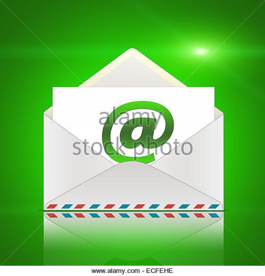 Umschlag eine e-Mail - Nachricht Stockbild