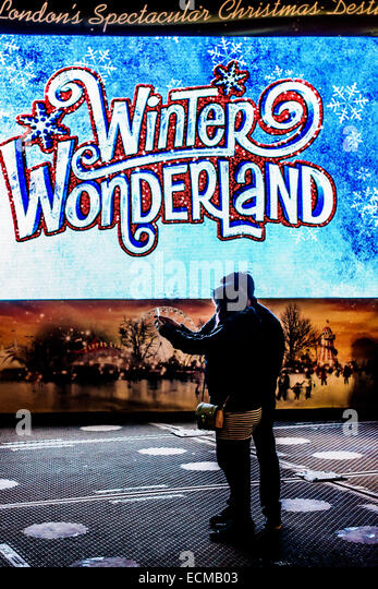 Winter-Wunderland Stockbild