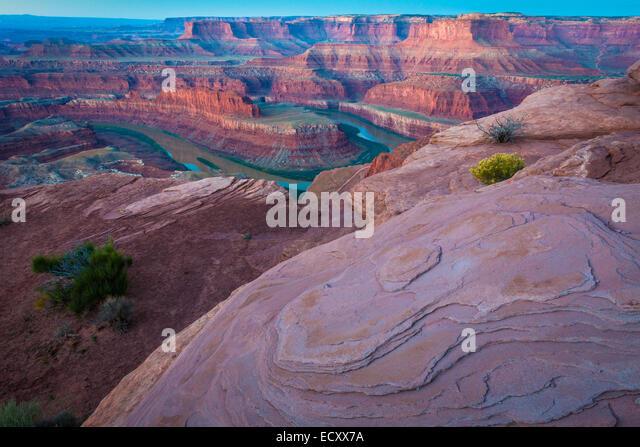 Dead Horse Point State Park ist ein State Park von Utah in den Vereinigten Staaten und seiner dramatischen Blick Stockbild