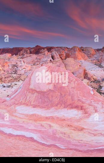 Bunte Sandstein, Valley of Fire State Park, in der Nähe von Las Vegas, Nevada. Stockbild