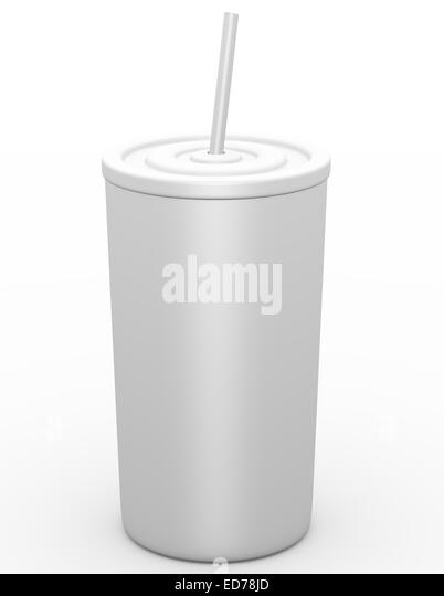3D Rendering eines Fast-Food Drink Cup Stockbild