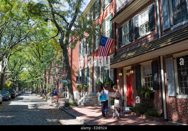 Historische Viertel, Philadelphia, Pennsylvania Stockbild