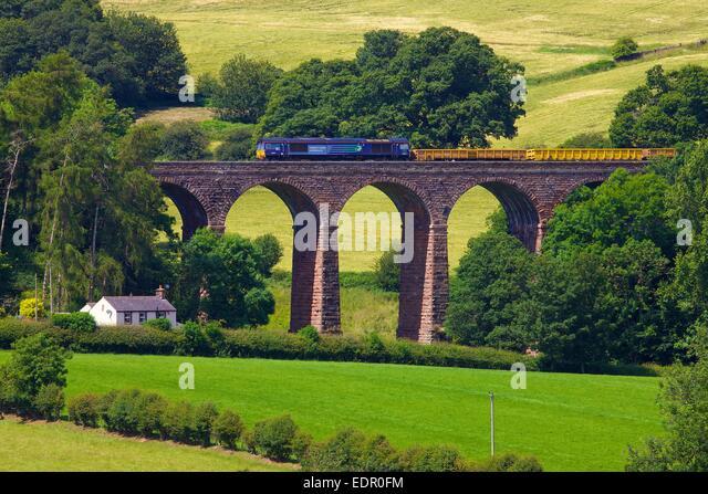 Direct Rail Services Diesel trainieren trocken Beck Viadukt Armathwaite begleichen zu Carlisle Railway Line Eden Stockbild