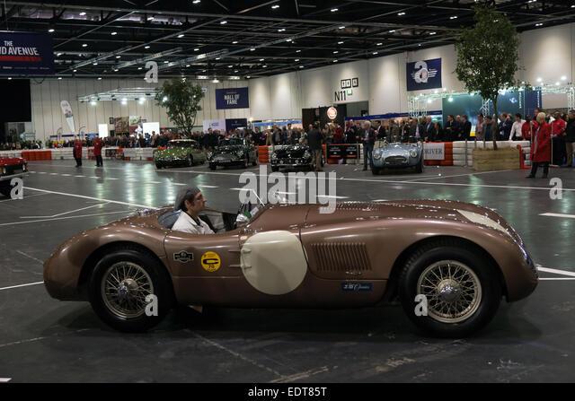 """Eine C-Type Jaguar Fangio, Teilnahme an der """"Grand Avenue Show"""" bei der Eröffnung von der konstituierenden Stockbild"""