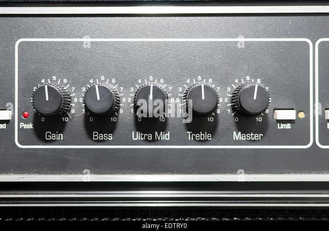 Tasten an Bord-sound-System und Musik. GL. Stockbild