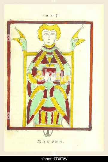Marcus, irische antiquarische Forschungen, 19. Jahrhundert Gravur Stockbild