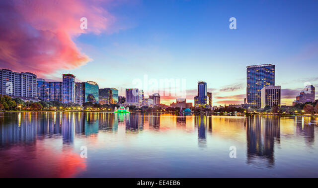 Skyline von Orlando, Florida, USA. Stockbild