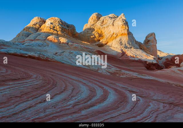 Felsformationen in die weiße Tasche ist Teil der Vermilion Cliffs National Monument. Stockbild