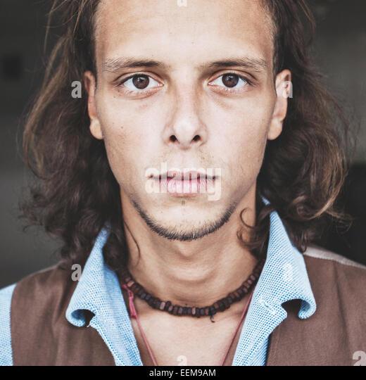 Portrait von junge Hipster Mann Stockbild