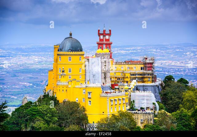 Sintra, Portugal bei Pena Nationalpalast Stockbild