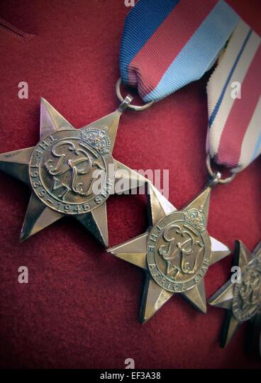 Krieg Medaillen Stockbild