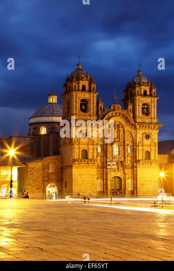 La Compania de Jesus (die Gesellschaft Jesu) Kirche, Cusco, Peru Stockbild