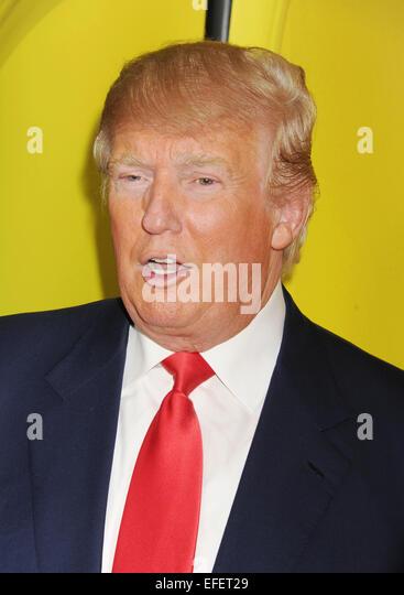 DONALD TRUMP U.S. Geschäftsmann im Januar 2015. Foto Jeffrey Mayer Stockbild