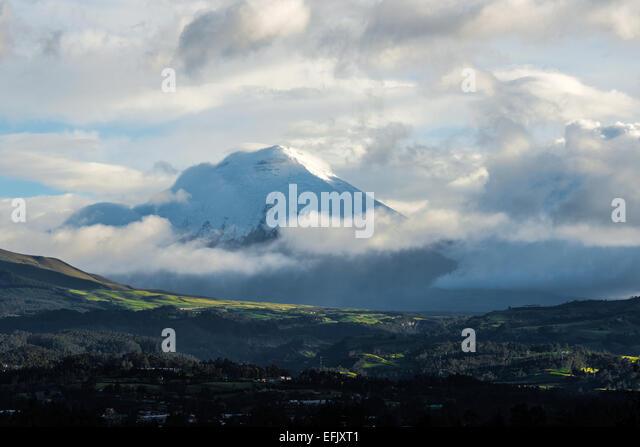 De Los Chillos Tal und Vulkan Cotopaxi, Ecuador Stockbild