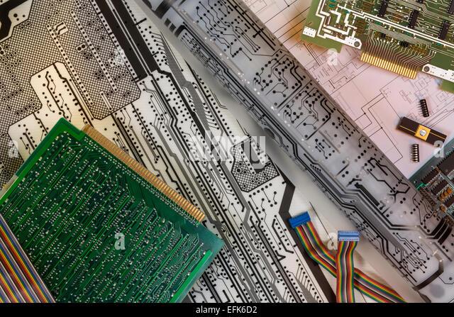 Elektronik - Design von Leiterplatten Stockbild