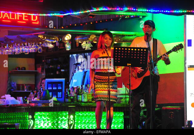 Live-Band in Manila, Philippinen. Stockbild