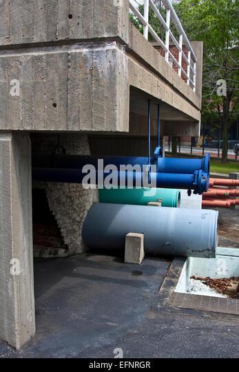 Baltimore, Maryland, USA, Baltimore Public Works Museum, Straßenbild Skulptur, städtische Skulptur von Stockbild