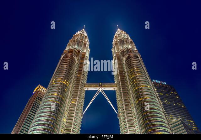Petronas Towers, Kuala Lumpur, Malaysia, Südostasien, Asien Stockbild