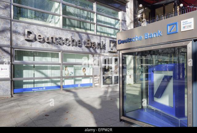 Die Deutsche Bank am Kurfürstendamm, Berlin, Deutschland Stockbild