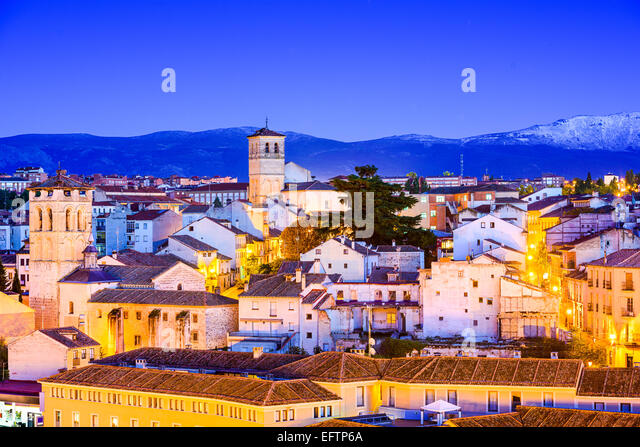 Segovia, Spanien alt Stadt Stadtbild. Stockbild