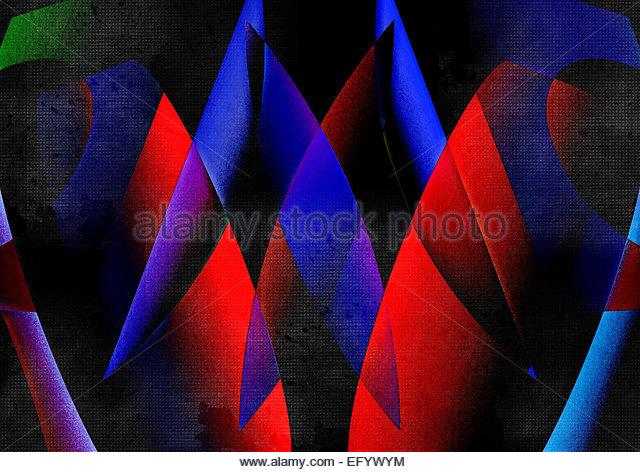 Abstrakte geometrische Formgebung Stockbild