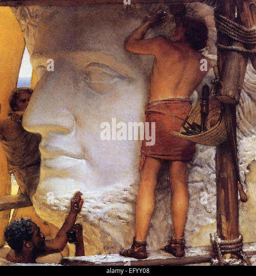 Lawrence Tadema Bildhauer im alten Rom Stockbild