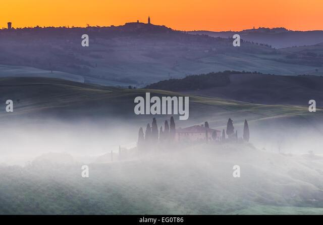 Tuscany sunrise Stockbild