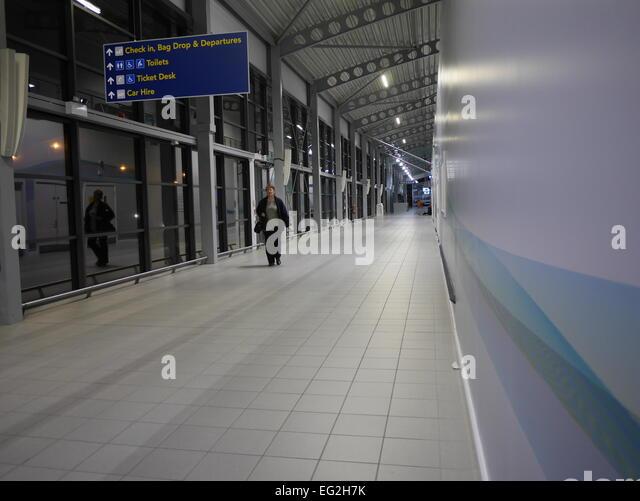 London Southend Airport Ankunftshalle Stockbild