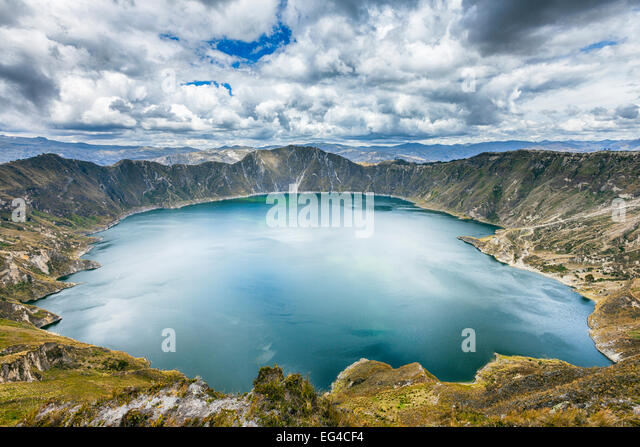 Quilota Crater Lake Provinz Cotopaxi Ecuador September 2010. Stockbild