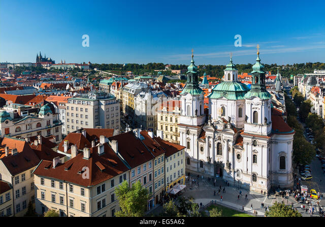 St.-Nikolaus-Kirche, Altstadt, Prag Stockbild