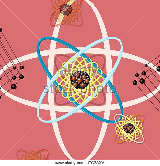 Atomenergie Struktur Wissenschaft Abbildung - Stock-Bilder
