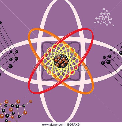 Atomenergie Struktur Wissenschaft Abbildung Stockbild