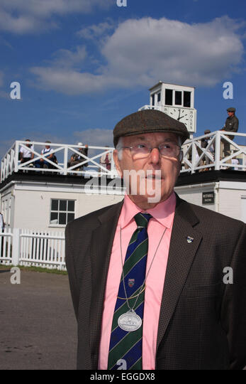 Welt-berühmten Motorsport-Kommentator Murray Walker / Goodwood Revival / Goodwood / West Sussex / UK Stockbild