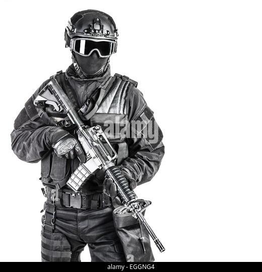 Spec Ops Polizist SWAT Stockbild