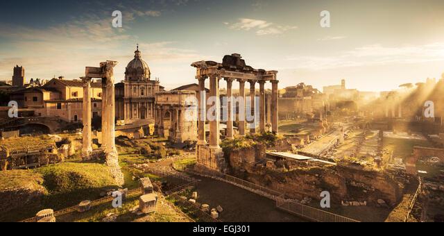 Italien, Rom, Roman Forum, antike Ruine, Stockbild